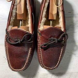 LL Bean Bison Double-Sole Slippers  Lined Sz 9D